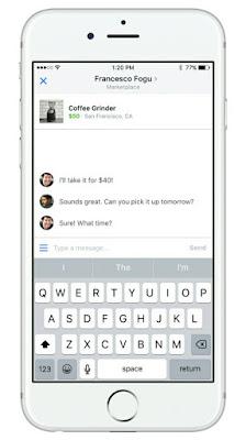 Transaksi di facebook marketplace