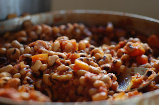 Cooking dry beans is no more trouble than filling a pot of water, adding a pinch of baking soda and letting your pot of best ever African beans simmer blissfully on the back of the stove for 90 minutes.
