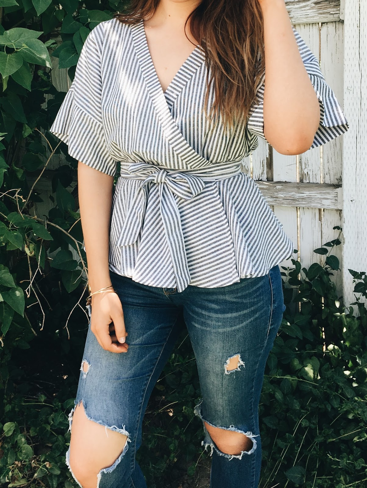 wrap blouse for summer