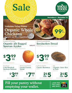 Whole Foods weekly Flyer December 6 - 12, 2017