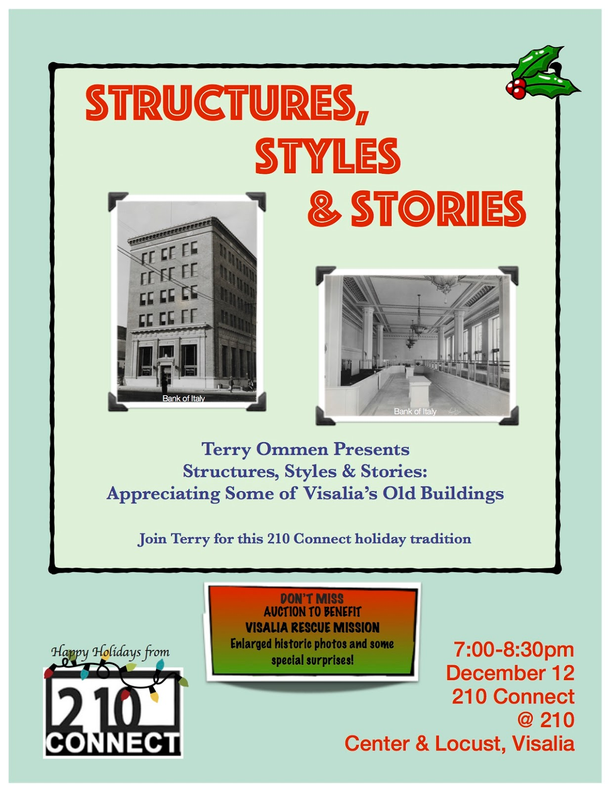 Historic happenings structures styles stories program next monday eve dailygadgetfo Gallery