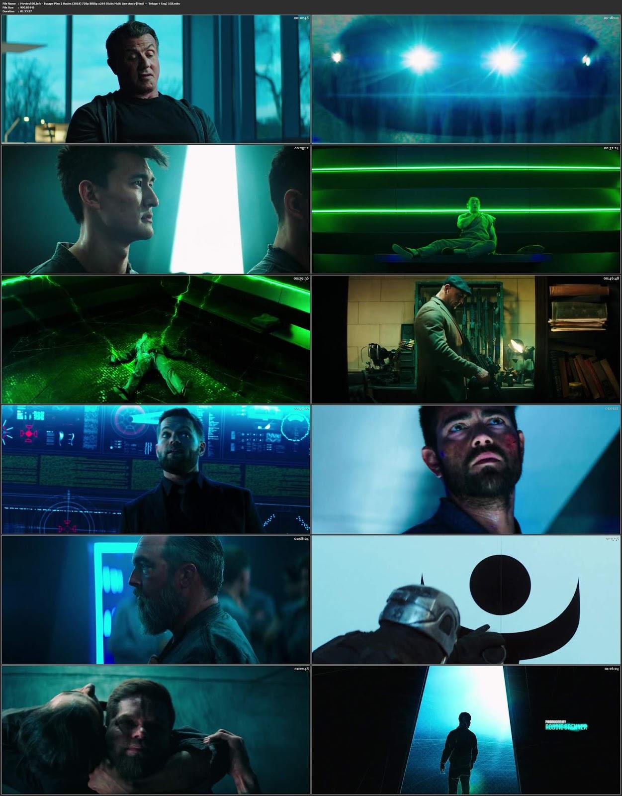 Escape Plan 2 Hades 2018 Hindi Dual Audio BluRay 720p ESubs
