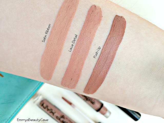 NYX Lingerie Liquid Lipsticks Swatches