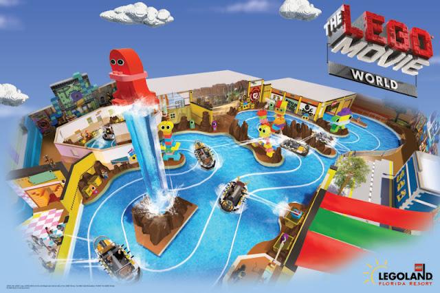 Atrações da nova área Lego