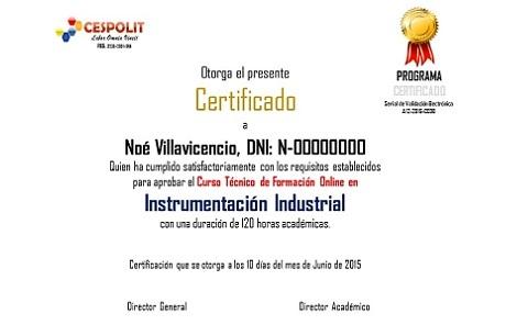 Cursos, Certificados