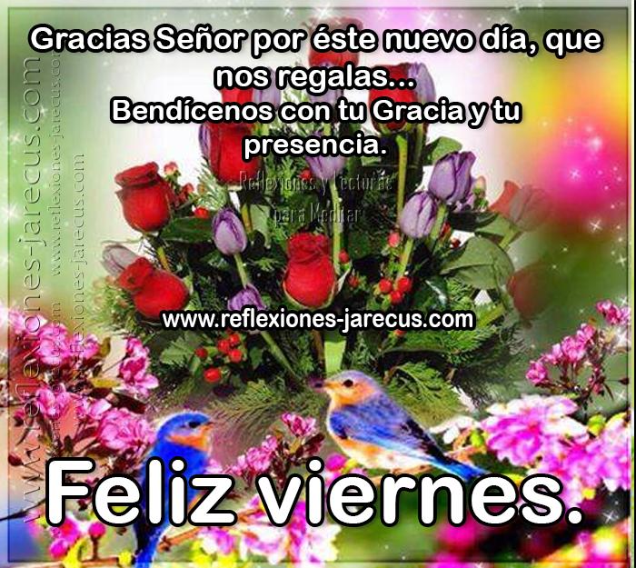 Feliz viernes, gracias Señor por éste nuevo día que nos regalas, bendícenos con tu gracias y tu presencia.