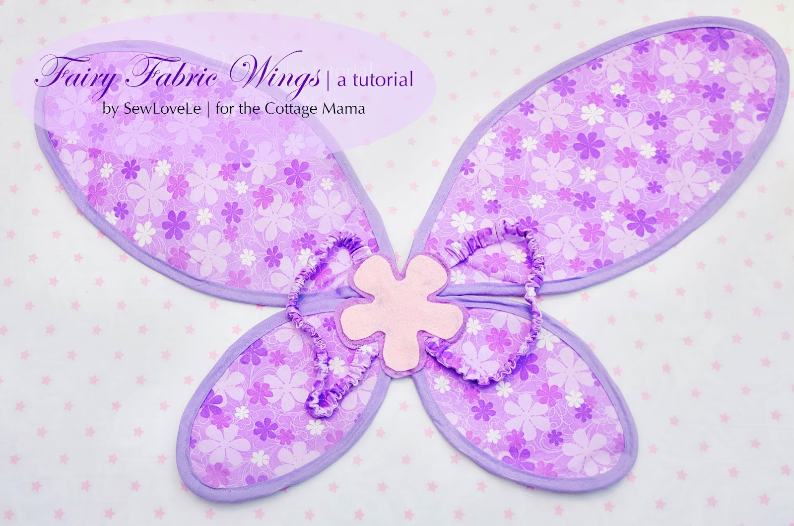 Free Fairy Fabric Wings Pattern and Tutorial. www.thecottagemama.com