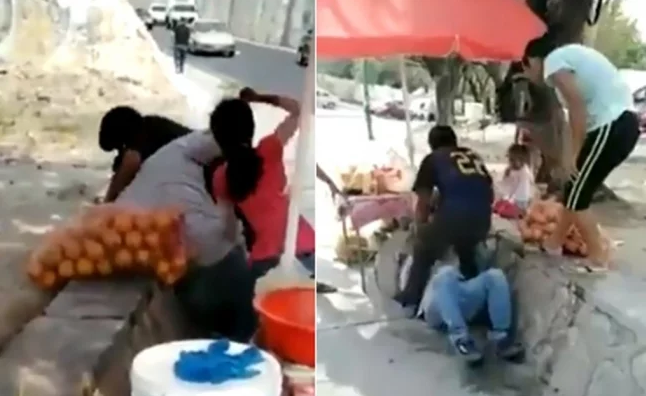 """Vídeo, Migrantes hondureños golpean a familia Mexicana en Chiapas, """"La gente de aquí lo sabe lo que somos"""" dicen"""