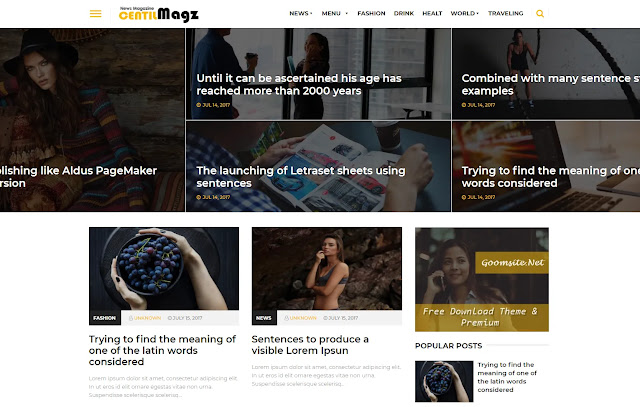 Centilmagz Responsive Magazine News Personal Blog Tutorial Blogger Template Theme