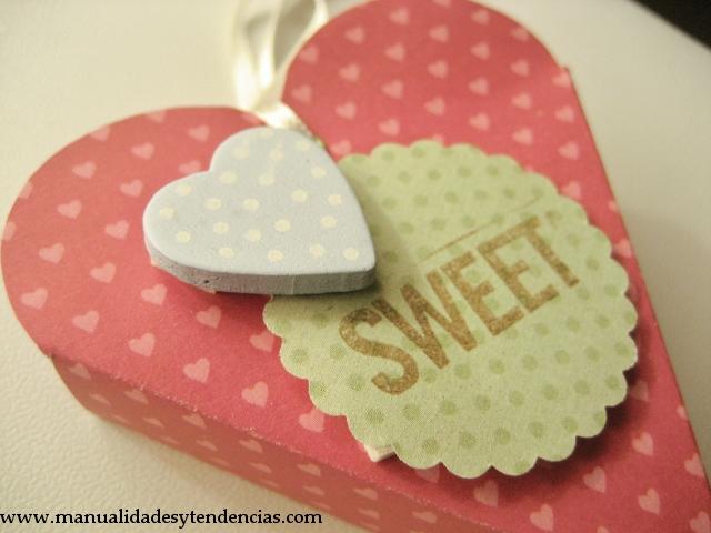 DIY Caja corazón para San Valentín / Heart shaped box for Valentine