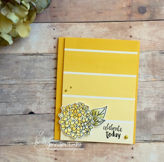 Celebrate Today Card by Jennifer Timko | Lovely Blooms & Happy Little Thoughts stamp sets by Newton's Nook Designs #newtonsnook