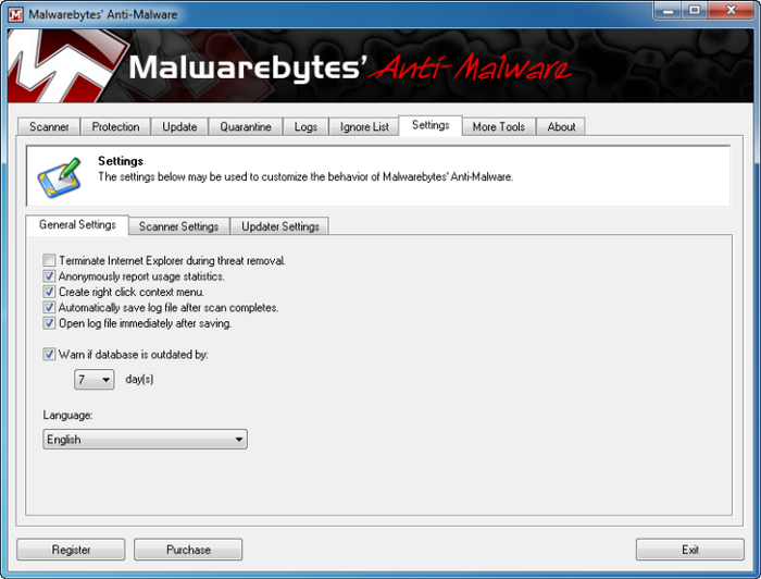 برنامج مجاني فعال لمكافحة والتخلص من البرامج الضارة والخبيثة Malwarebytes Anti-Malware 2.0.1