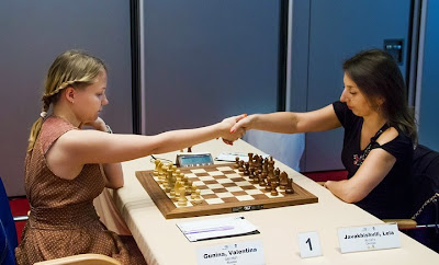 Ronde 8 : Valentina Gunina (2501) 1-0 Lela Javakhishvili (2474)  - Photo © Chess News