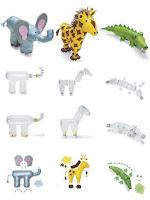 animales reciclados con botellas