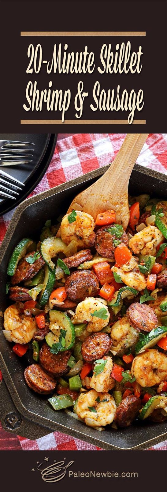 ★★★★☆ 7561 ratings | 20-Minute Shrimp & Sausage Skillet Paleo  #HEALTHYFOOD #EASYRECIPES #DINNER #LAUCH #DELICIOUS #EASY #HOLIDAYS #RECIPE #20Minute #Shrimp #Sausage #Skillet #Paleo