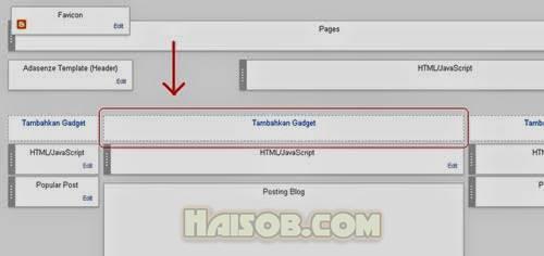 Cara Membuat Satu Kolom Widget Diatas Postingan