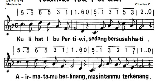 Not Recorder Lagu Ibu Pertiwi