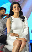 Beautiful Smiling Kajal Aggarwal in Creamy White Gown at MLA Telugu Movie Success Meet ~ .com Exclusive Pics 008.jpg