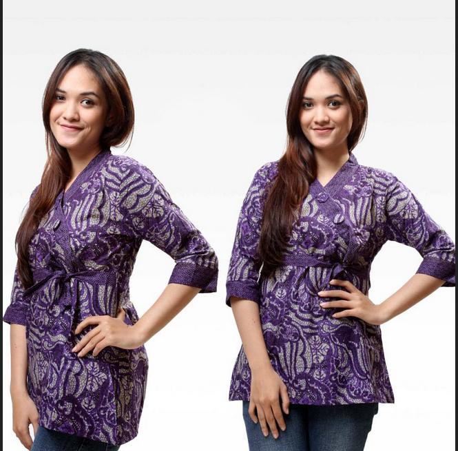 Baju Batik Wanita Ukuran Jumbo: Model Baju Batik Kantor Wanita Kombinasi Yang Modis Dan Formal