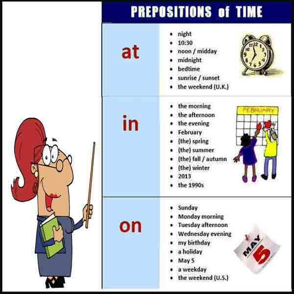 Preposition Of Time At In On Dan Contoh Kalimat Juragan Les