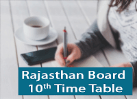 rbse 10th time table 2019 rajasthan ssc class 10th date sheet 2019