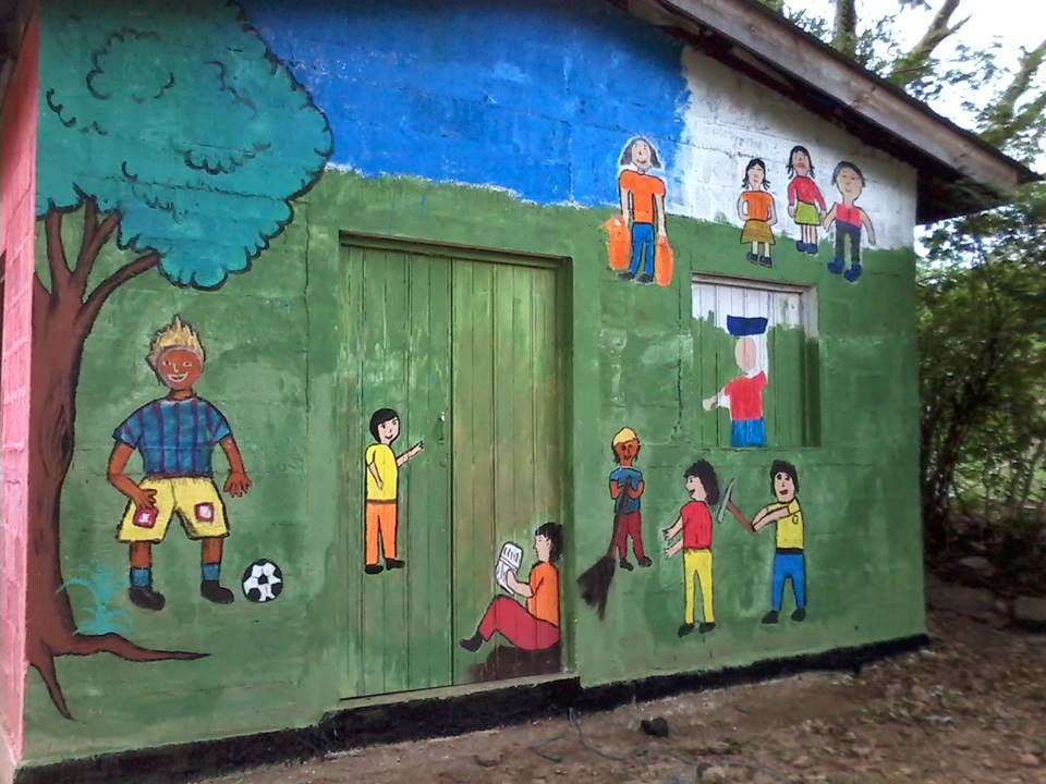 Inprhu somoto mural zona libre de trabajo infantil for Mural nicaraguense