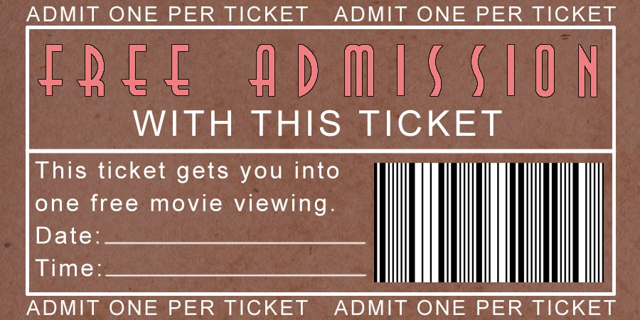 Champlain College Publishing  Movie Ticket Template Free