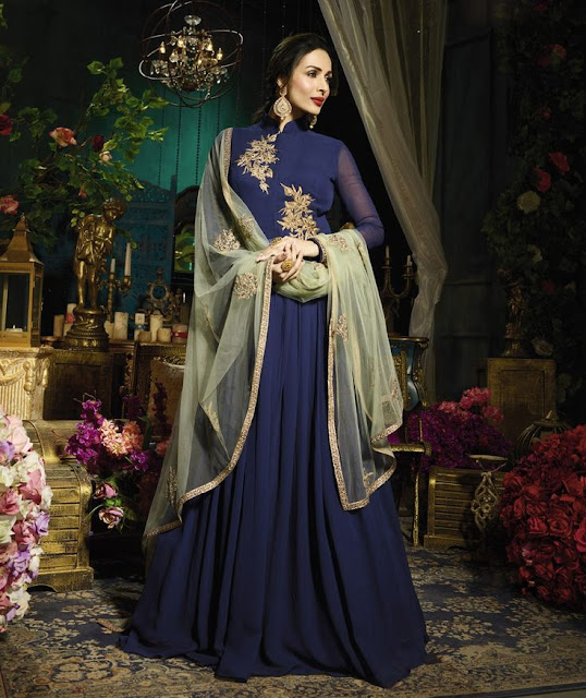 Malaika Arora, Malaika Arora in Anarkali, Malaika Arora in Blue Dress , Malaika Arora Blue dress and dupatta