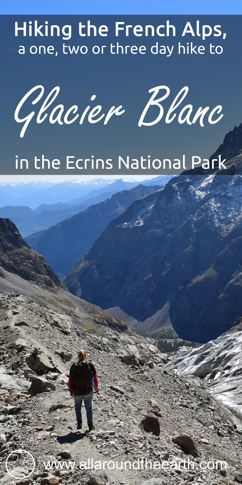 Guide on a three day hike to the Glacier Blanc in the Ecrins National Park in the Alps of France