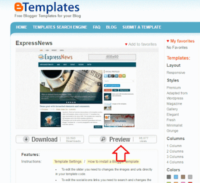 Como mudar o template do blog