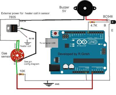 air quality sensor MQ-135 with Arduino