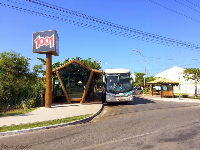 Rodoviária de Búzios e ônibus da Auto Viação 1001