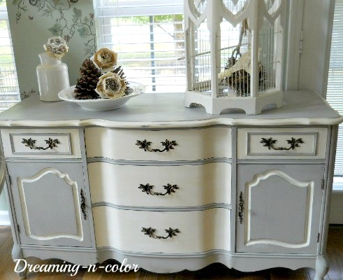 Dreamingincolor French Provincial Buffet Two Toned