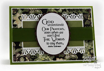 "Our Daily Bread designs ""Full of Grace Collection - Pray"" Designer Kathy Jones"