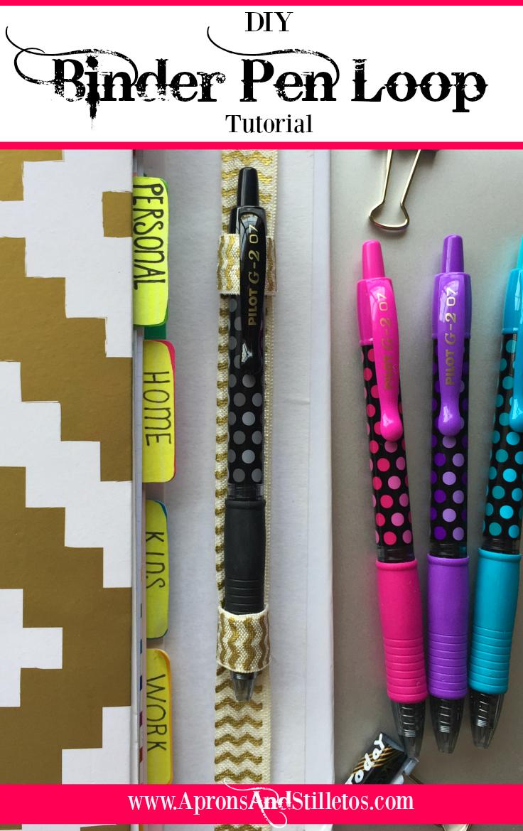DIY Binder Pen Loop Tutorial