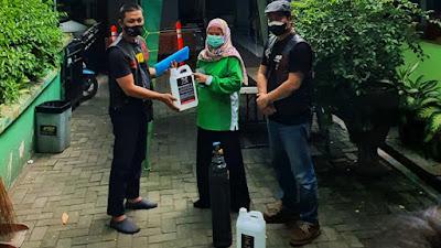 Bikers Brotherhood 1% MC Peduli, Distribusikan Oksigen dan Disinfektan ke Puskesmas