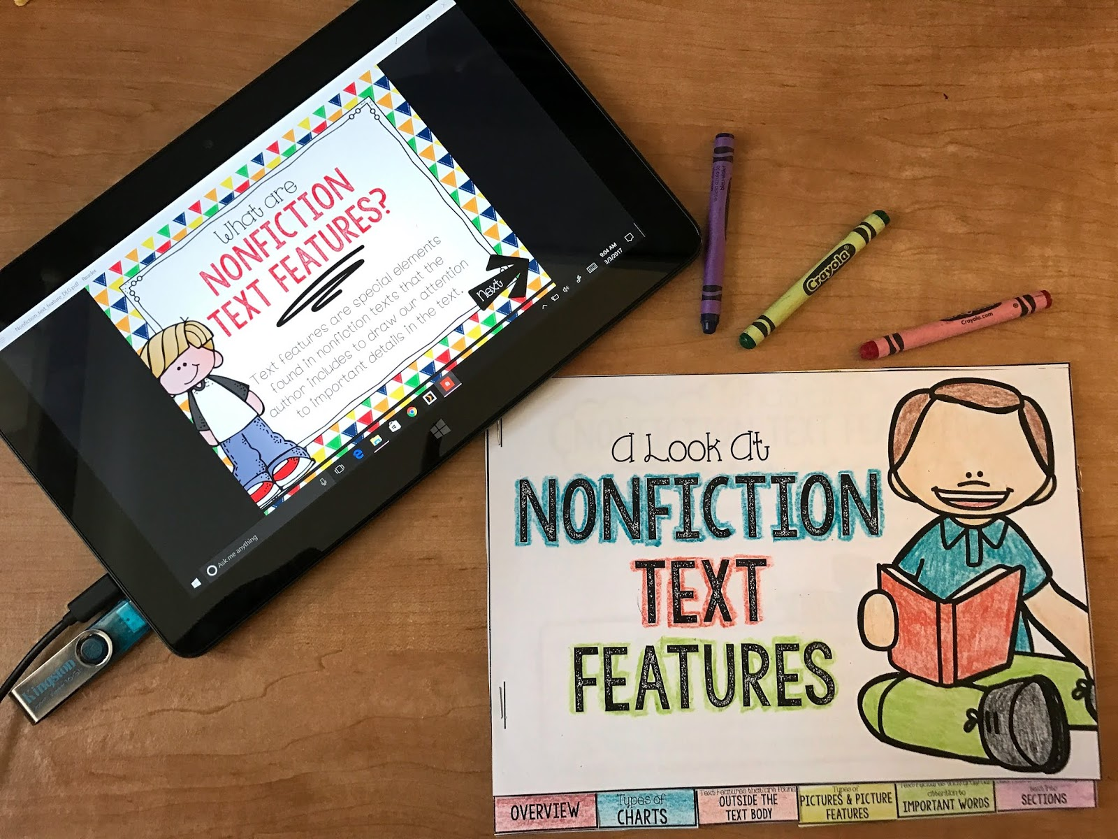 Grab your free Link & Think digital learning guide to use with your students when teaching nonfiction text features