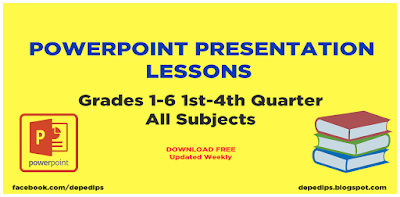 PowerPoint Presentation Lessons Grades 1-6 All Subjects 1st-4th Quarter