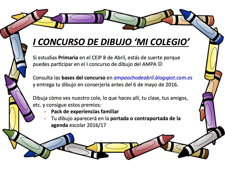 A m p a colegio p blico 8 de abril i concurso de dibujo for Concurso para profesores 2016