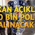 Bakan Açıkladı! 10 bin Polis Alınacak