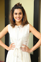 Taapsee Pannu in cream Sleeveless Kurti and Leggings at interview about Anando hma ~  Exclusive Celebrities Galleries 051.JPG