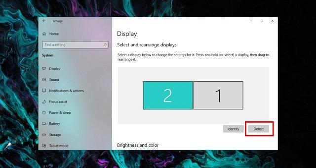 إصلاح مشاكل عدم الكشف عن الشاشة الخارجية في ويندوز 10