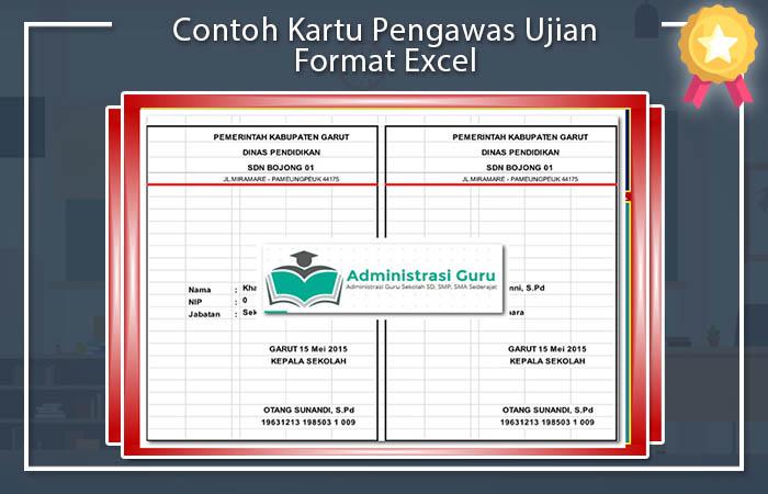 Kartu Ujian Sekolah Excel Download