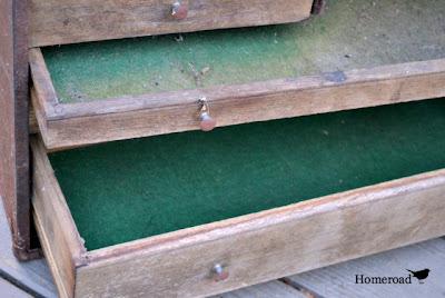 Vintage toolbox garden DIY