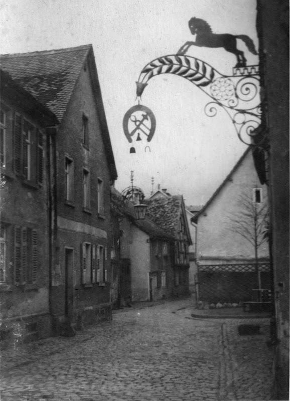 Das alte Hasenviertel nach der Verschönerung durch die Gewerbeschule Bensheim, Nachlass Joseph Stoll