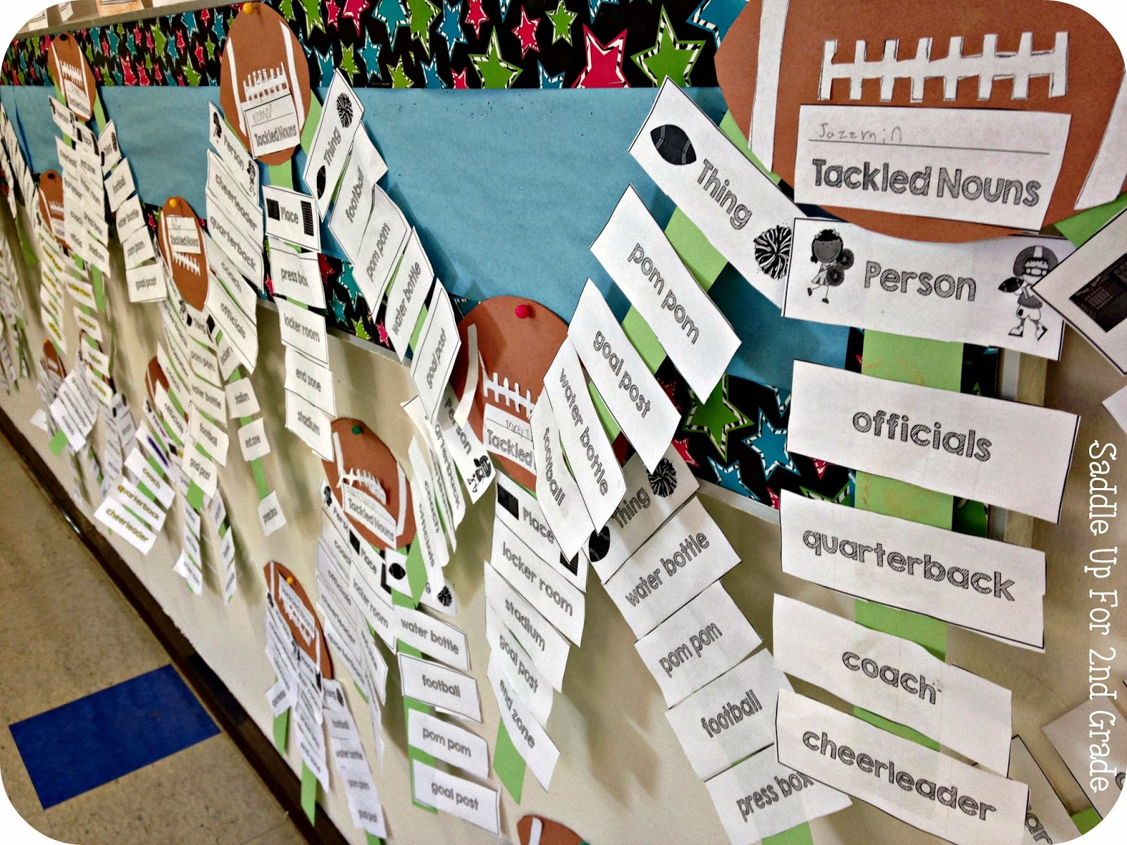Tackling Noun Craftivity by Saddle Up For 2nd Grade