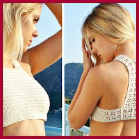 HALTER TOP A CROCHET