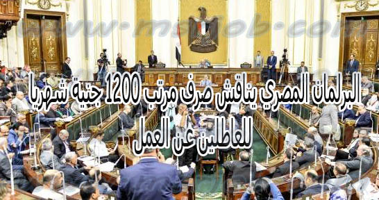 البرلمان المصري يناقش صرف مرتب 1200 جنية شهريا للعاطلين عن العمل