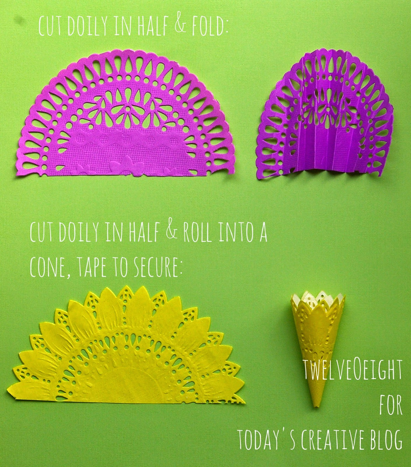 DIY Paper Doily Flowers - Today's Creative Life