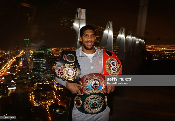 After victory over Andy Ruiz Jr, Anthony Joshua to present his four Belts to Buhari